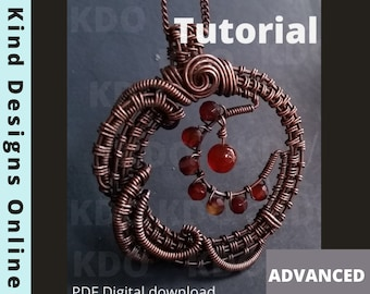Celestial Twists Pendant, Crescent Moon Necklace Wire Wrap Tutorial Wire Weaving Tutorial Wire Moon Tutorial Wire Pendant Wire Work Tutorial