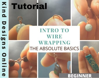 Intro to Wire Wrapping Tutorial, How to wire wrap, Beginners guide to wire jewelry, The absolute basics to wire wrapping, DIY jewelry, Craft