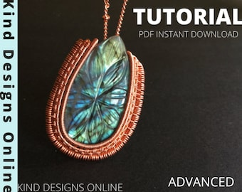 WIRE Wrapping Tutorial Pendant wire wrap  Advanced Tutorial JEWELRY Tutorials wire weaving tutorials copper wire jewellery making tutorials