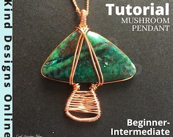 Mushroom Pendant Tutorial Wire Tutorials for Beginners Wire Wrap Tutorial Wire Wrapping Tutorials Wire Weaving Tutorial Wire Wrap Jewelry <3