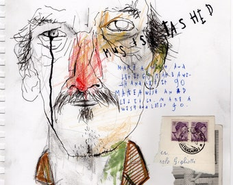 Must Stashed - Original Mixed Media Illustration / Collage