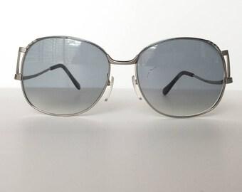 09792cff74 Hoya Silver Square Eyeglasses Vintage Large sunglasses Japan designer  glasses Oversize eyeglasses Low arm Retro frames Hipster glasses frame