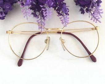 d969c4abee9 Large Gold Round Eyeglasses Frame Oval Eyeglass Lennon Big Round Glasses  Retro Hipster Glasses Designer Elegant Vintage Oversize Sunglasses