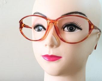 Zeiss Orange Glasses Tortoise Shell frames Oval Eyeglasses German glasses Retro Frame Large Vintage Spectacles Cateye Sunglasses hipster