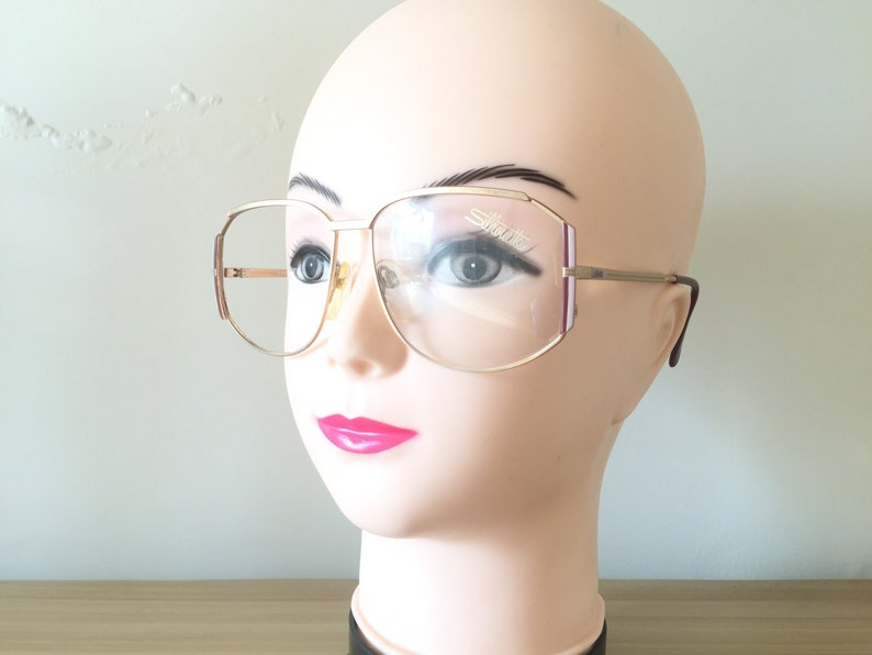 c2dba2dbc2c Silhouette Glasses Golden Eyeglass Pink Maroon Austria retro