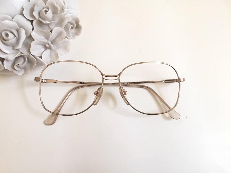 37957b67d93 Gold Eyeglasses Gold frames Square glasses 18 KGP vintage