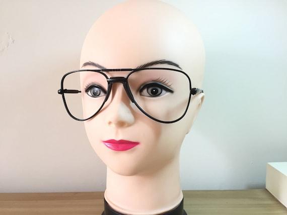 154300192c Brown Aviator Glasses brown frames thick frames vintage