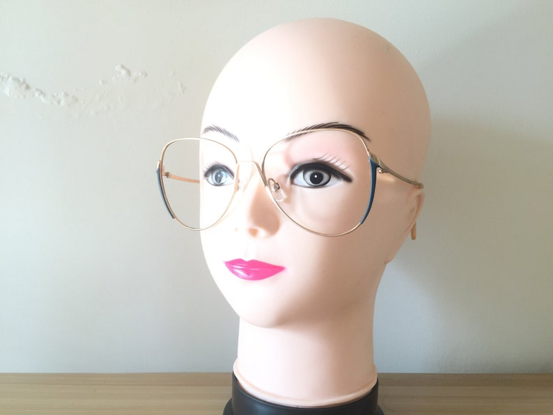 a8a3f90828f Rodenstock glasses Gold eyeglasses Blue Vintage glasses