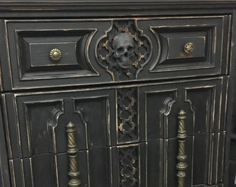 Incroyable Custom Order Gothic Skull Dresser  We Find And Make Gothic Furniture