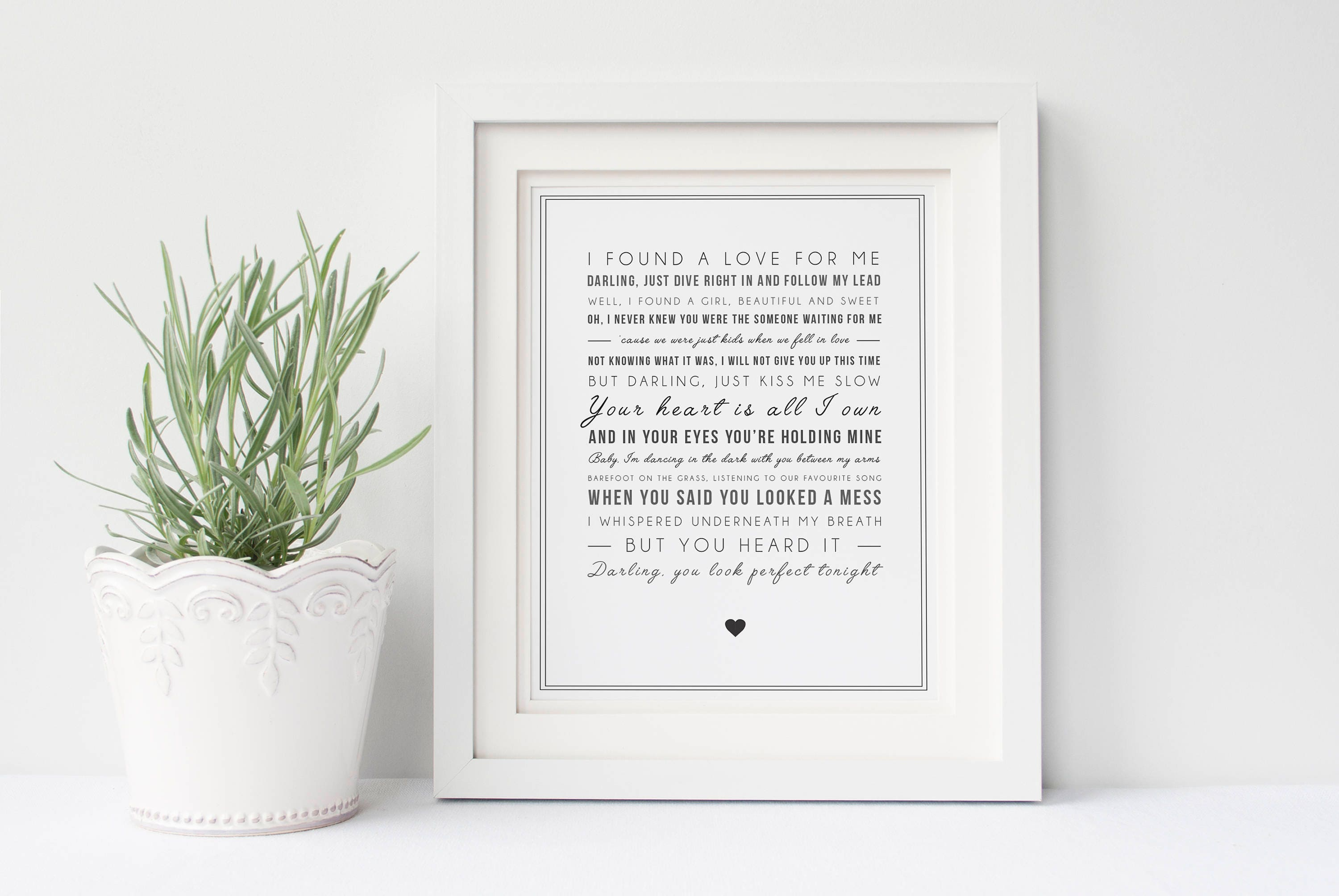 Ed Sheeran \'Perfekt\' Song Lyrics Song Lyric Print | Etsy