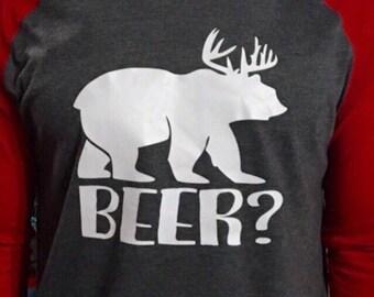 863406f7 Men's Beer Shirt, Men's Deer Shirt, Men's Bear Shirt, Funny Men's Beer Shirt