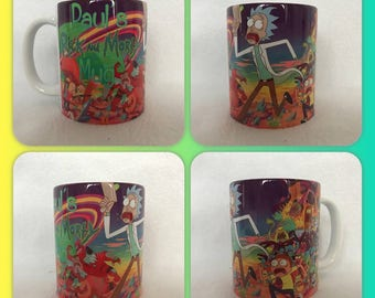 personalised mug cup rick and morty Mad scientist adult swim netflix Sanchez :)