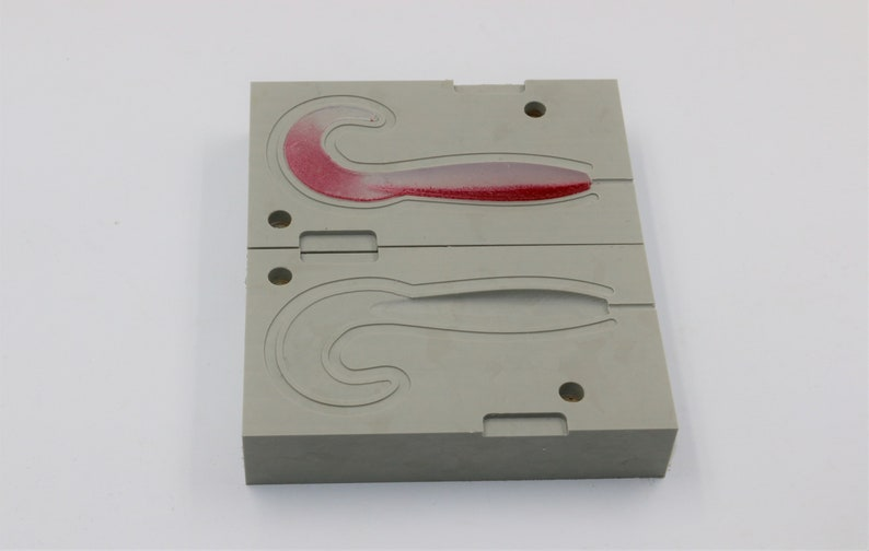 Plastic mold for softbait silicone fishing lure, CNC machining services