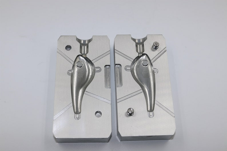 CNC aluminum machined soft plastic lure mold, CNC machining services