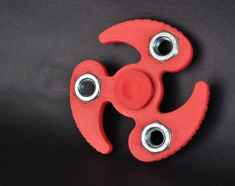 "Model ""Curved"" 3D printed fidget hand spinner, 3D printing services"