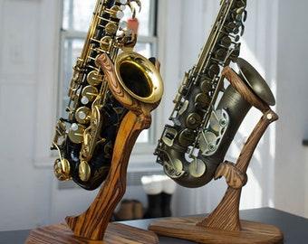 Custom Wood Saxophone Stand
