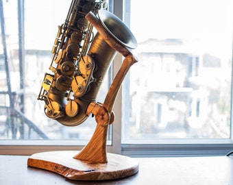 Solid Wood Sax Stand