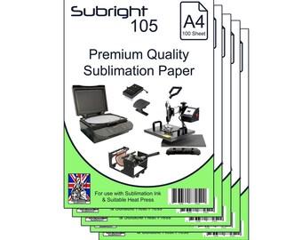 Sublimation Paper Subright 105 A4 Premium Quality Dye-Sublimation Paper