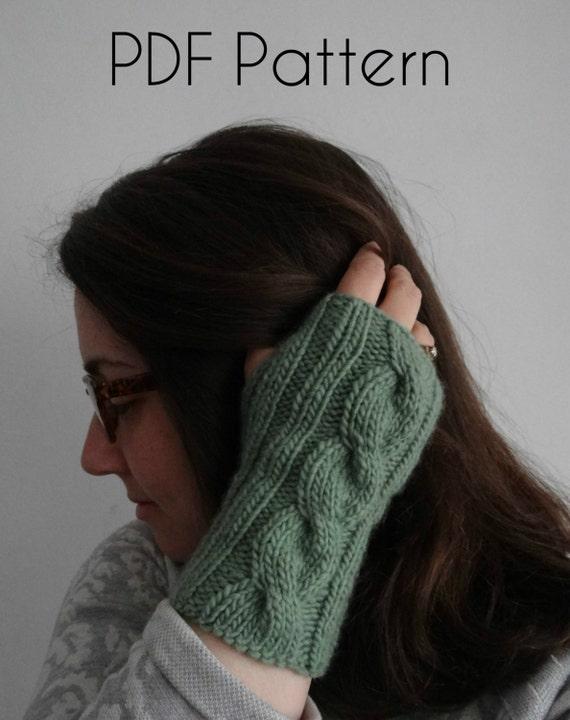 PATRÓN TEJIDO dos agujas tricot palillo: manguitos guantes