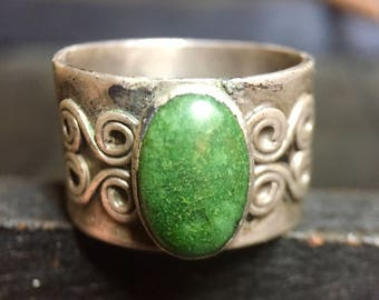 Vintage Sterling Silver/ Turquoise Ring  #319