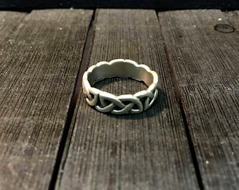 Vintage Sterling Silver Braided Ring   #256