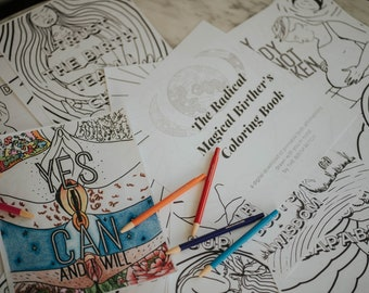 The Radical Magical Birther's Coloring Book (A Digital Download)