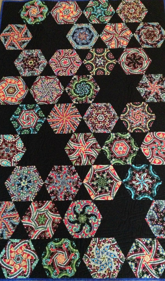 Black And Bright Stack N Whack Quilt Etsy
