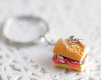 Key Sandwich fimo, made of polymer clay miniature