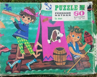 Puzzle 60 pieces/ The sea/ Fernand Nathan/70's