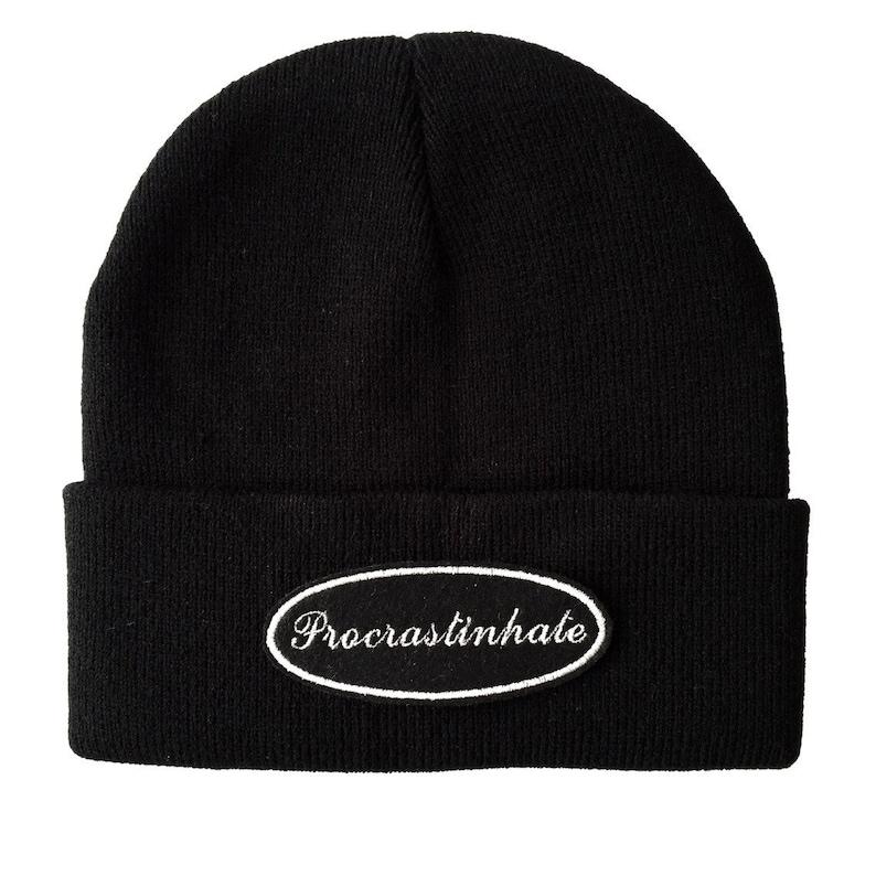 Cappello Procrastinhate Bianco su Nero