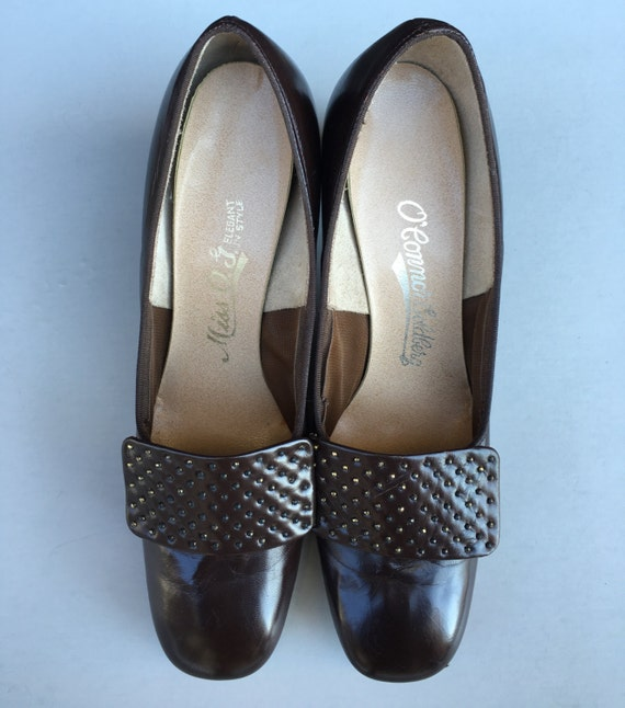 O'Connor & Goldberg Chocolate Brown Heels, Vintage