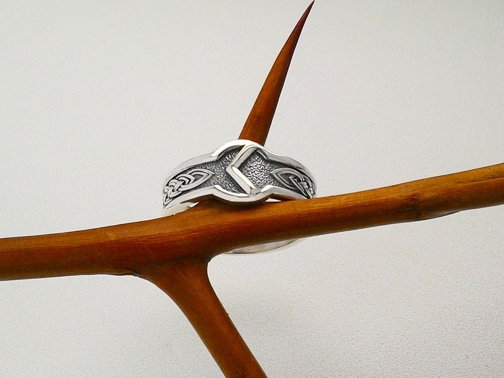 Kenaz Rune Kano Rune Ring Runic Ring Ring Viking Rune Ring Rune  Jewelry Asatru Runic Alphabet Runes Elder Futhark Runes Viking Rune Viking