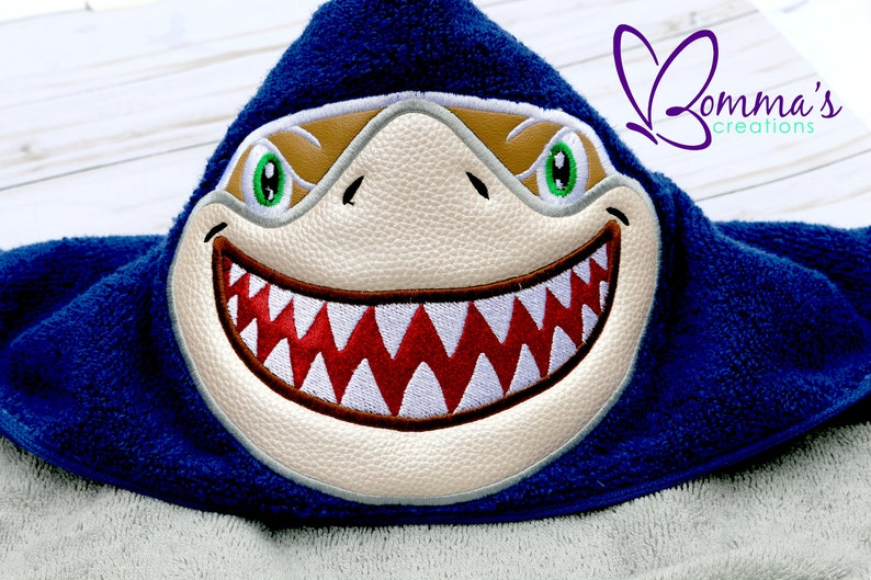b10e04e1de Shark Hooded Bath Towel Shark Hooded Beach Towel Shark Cover | Etsy