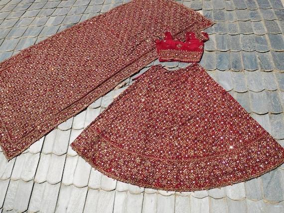 Indian Lehenga vintage tribal skirt HEAVY embroide