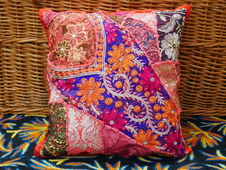 Boho Cushion Cover Indian Pillow Colorful Decorative Pillow Etsy