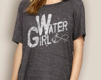 Women's Boating Tee- WaterGIRL Infinity Slouchy T-Shirt