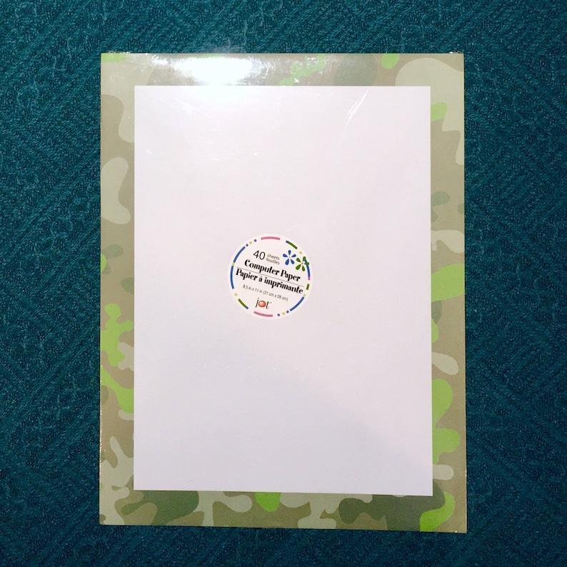 1 New Pack Of 40 Sheet Letterhead Computer Printer Paper Etsy