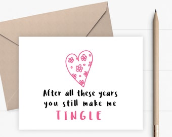 Valentines Day Card for boyfriend girlfriend husband wife Funny Valentine Card Love Card Anniversary Card