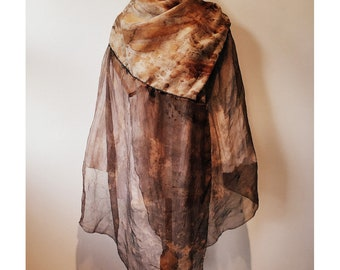 Deconstructed Shawl in Wool & Silk