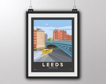 Leeds - Yorkshire - Art Print by Tiv
