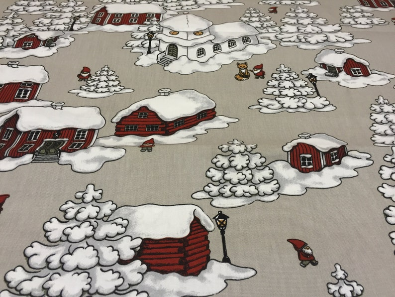 Christmas Tablecloth Beige Color Natural Colors Home   Etsy