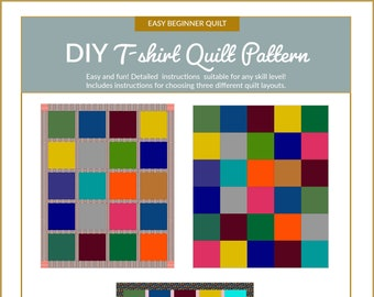 The DIY T-shirt Quilt Pattern (Printed copy - delivered by Mail)