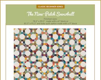Nine-patch Snowball Quilt Pattern | Classic Beginner Series