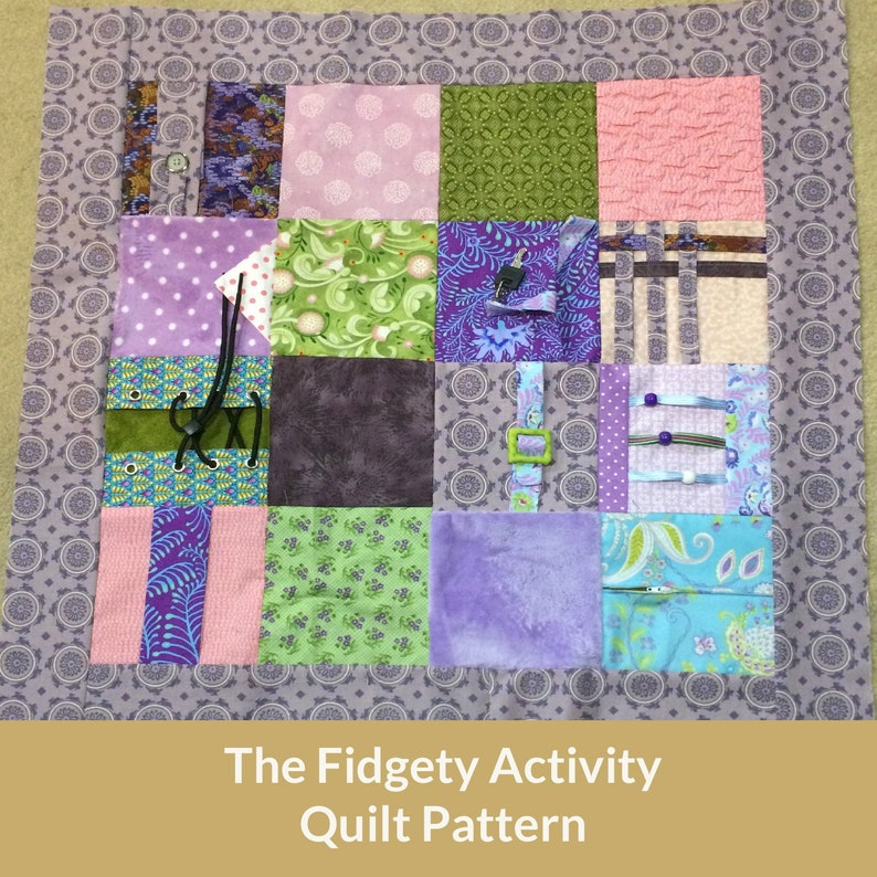 The Fidgety Activity Quilt Pattern image 0