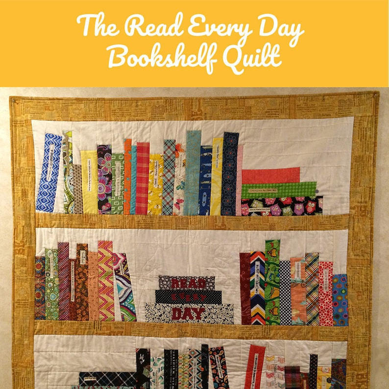 Read Every Day Quilt Downloadable Pattern  Book Quilt  image 0