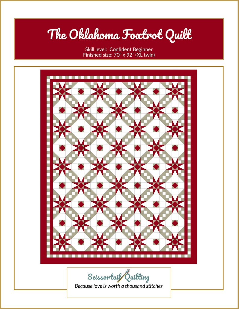 Oklahoma Foxtrot Quilt Pattern image 0