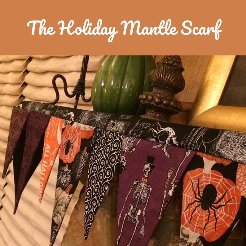 Holiday Mantle Scarf Downloadable Pattern image 0