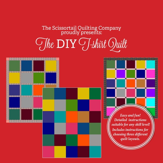 The Diy T Shirt Quilt Pattern Etsy