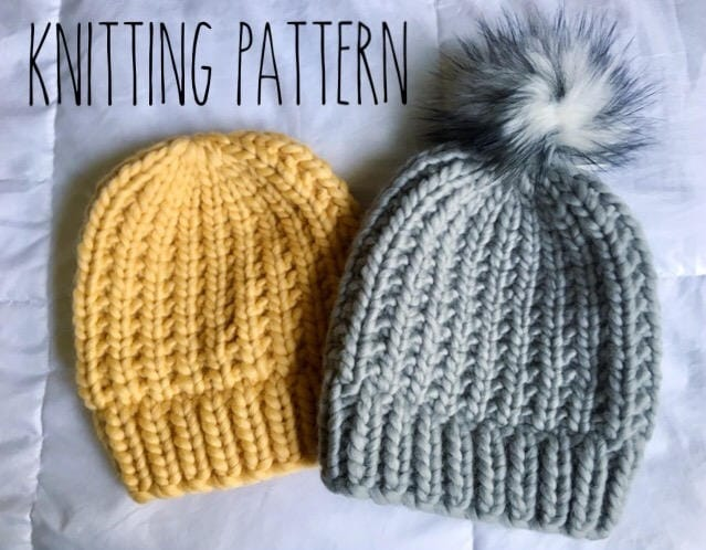 Chunky Knit Beanie Hat Pattern Gallery Knitting Patterns Free Download