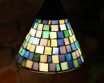 Vintage Stained Glass Pendant Lamp Shades Lights Tiffany Lamp Glass  Lampshade Colorful Stained Glass Light Globes